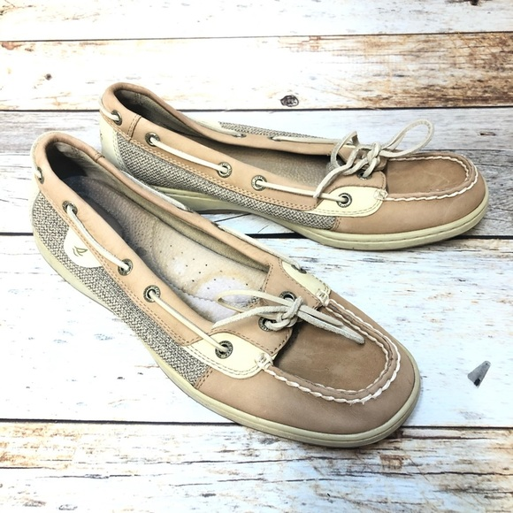 Sperry top sider boat shoes tan classic women's 10